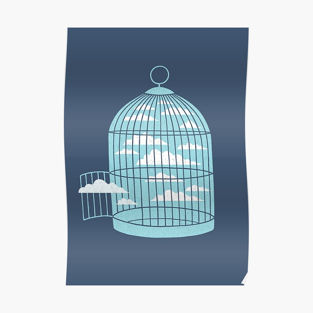 Frei wie ein Vogel Poster