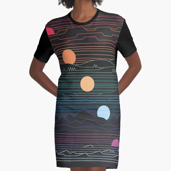 Many Lands Under One Sun Graphic T-Shirt Dress