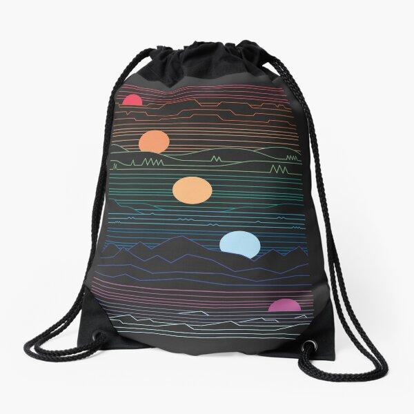 Many Lands Under One Sun Drawstring Bag