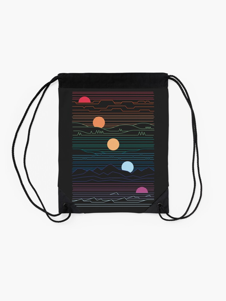 Alternate view of Many Lands Under One Sun Drawstring Bag