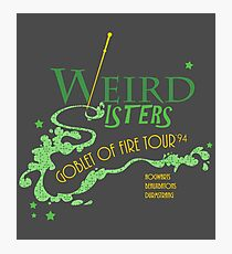 The Weird Sisters Goblet of Fire Tour '94 green Photographic Print