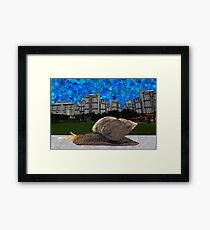 Snail and HDB (Singapore Scenery) Framed Print