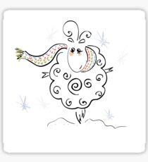 Funny cute lamb Sticker