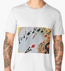 Man cave - deck of cards/royal flush Men's Premium T-Shirt