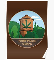 Point Place Water Tower Poster