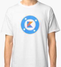 Kotlin coder - superhero dev comics Classic T-Shirt