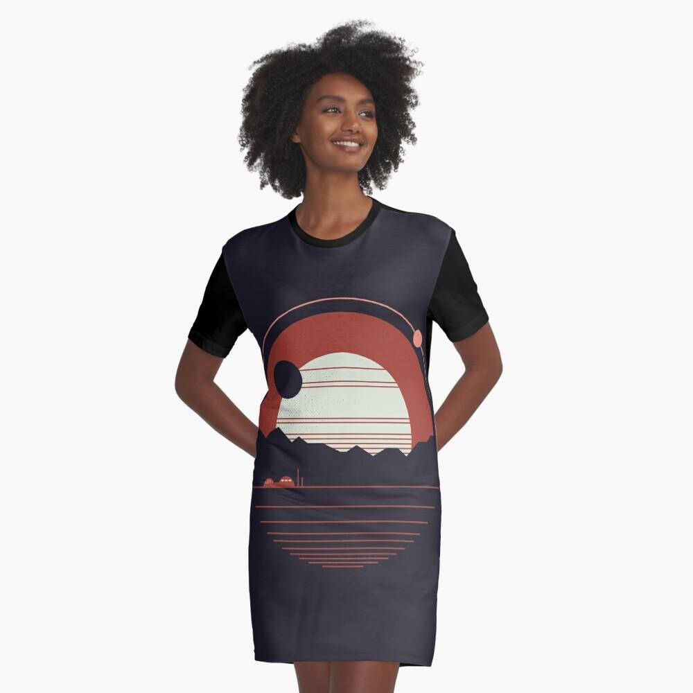 Solitude Graphic T-Shirt Dress