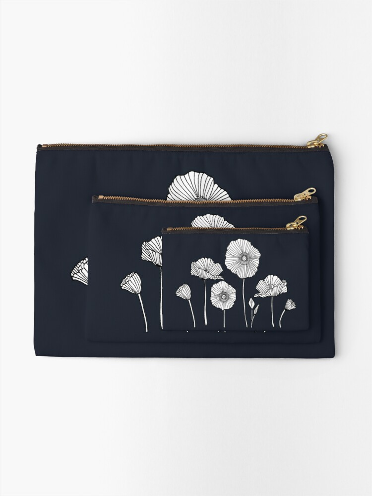 Alternate view of Poppies Zipper Pouch