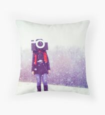 Photography Addict Throw Pillow