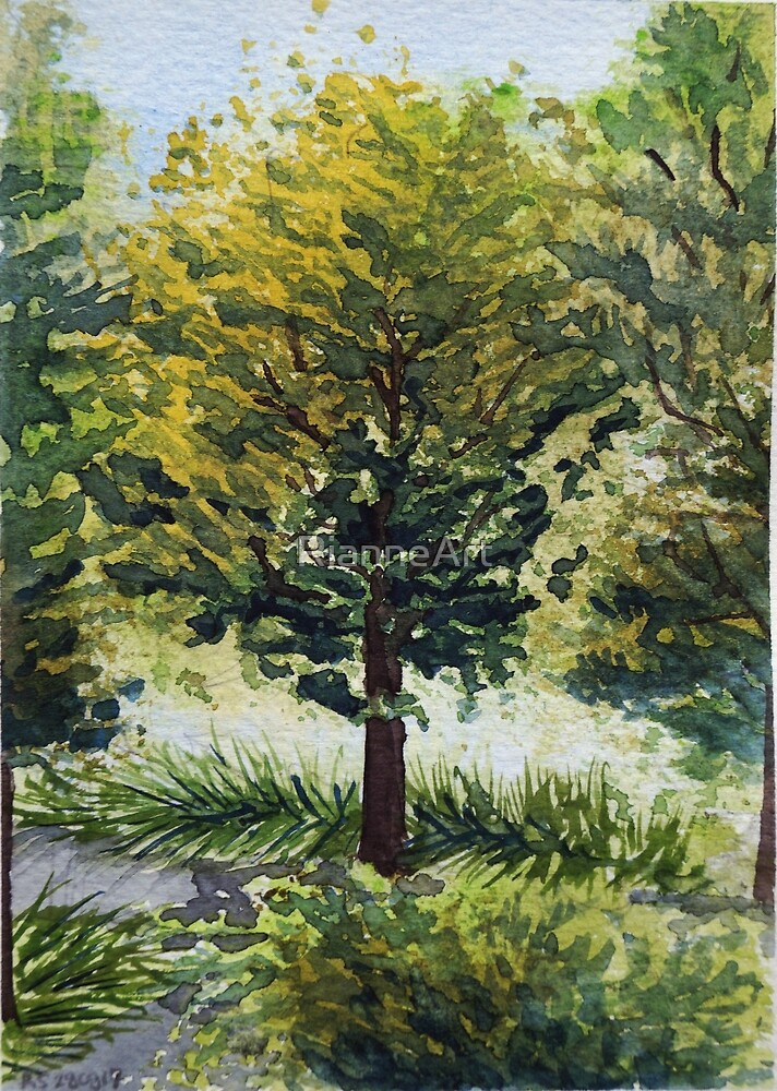 Tree in green by RianneArt