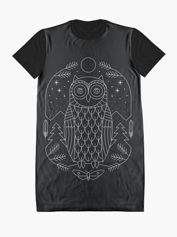 Alternate view of Night Life Graphic T-Shirt Dress