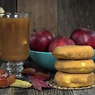 Apple Cider and Donuts by Maria Dryfhout