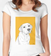 Labrador Dog Portrait Women's Fitted Scoop T-Shirt