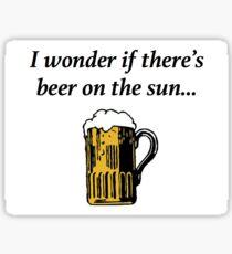 Beer on the sun Sticker