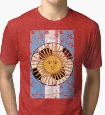 Argentina Football Flag Soccer Sports Design Tri-blend T-Shirt