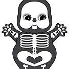 Chubby Skeleton Kewpie by Natalie Perkins
