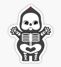 Chubby Skeleton Kewpie Sticker