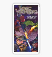 The Lost Vikings 2, Restored Vintage  Nintendo Power Poster Sticker
