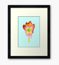 Bubble O Bill (Green Nose) - Blue Framed Print