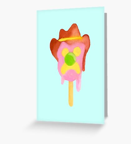 Bubble O Bill (Green Nose) - Blue Greeting Card