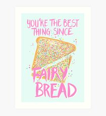 Best Thing Since Fairy Bread - Blue Art Print