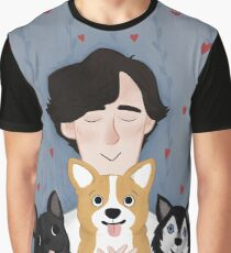 Sherlock Holmes loves pups Graphic T-Shirt
