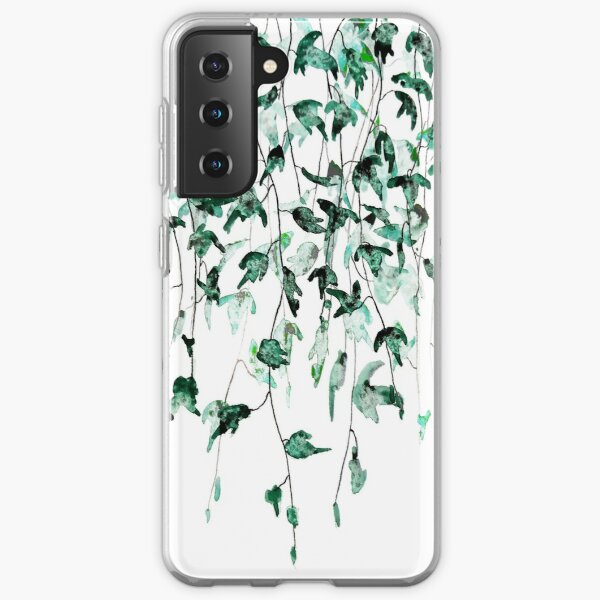 Ivy on the wall watercolor Samsung Galaxy Soft Case