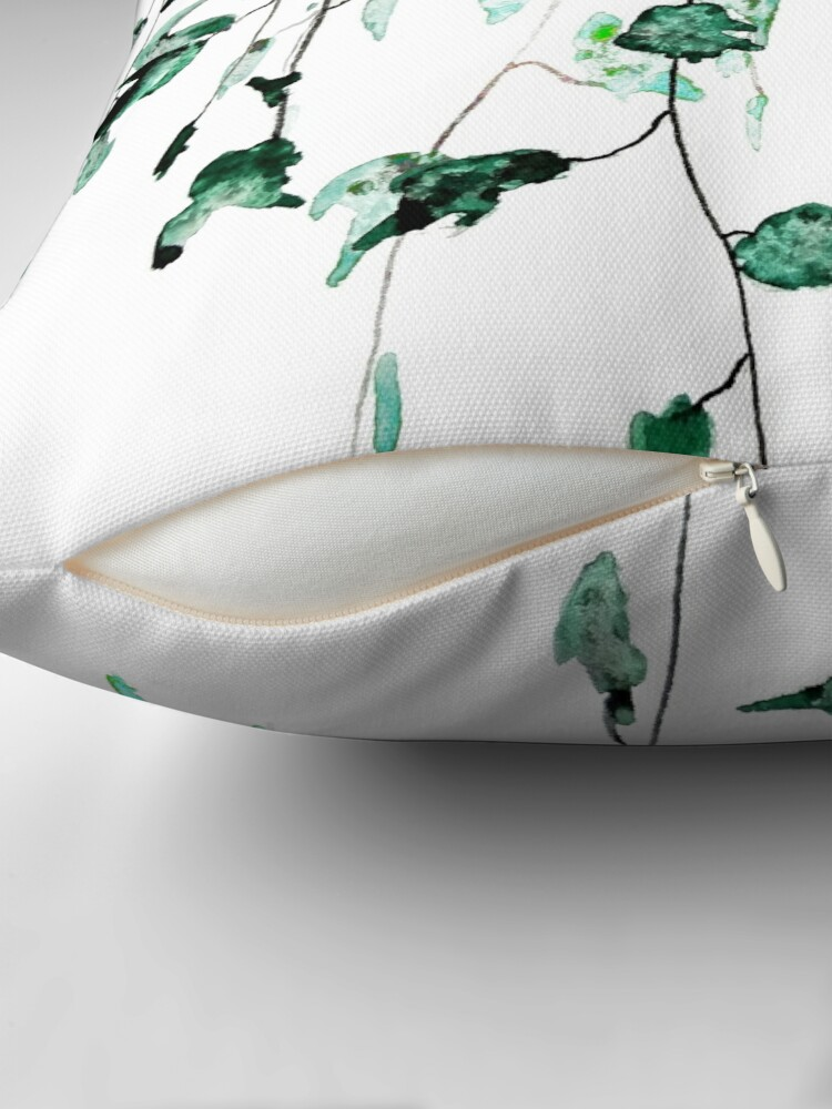 Alternate view of Ivy on the wall  Throw Pillow