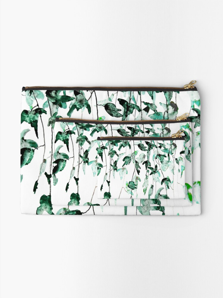 Alternate view of Ivy on the wall  Zipper Pouch