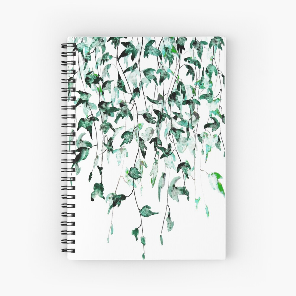 Ivy on the wall watercolor Spiral Notebook