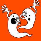 Dabbing Halloween Ghosts T-Shirt for Boys, Girls and Adults by Leigh Evans