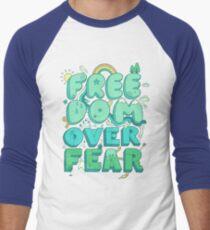 Freedom Over Fear Men's Baseball ¾ T-Shirt