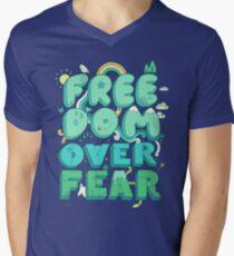 Freedom Over Fear Men's V-Neck T-Shirt