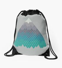 Many Mountains Drawstring Bag