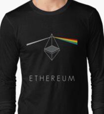 ethereum ETH prisma lichtbrechung floyd regenbogen licht nerd bitcoin blockchain cryptochain währung internet kursgewinn dezentral Long Sleeve T-Shirt