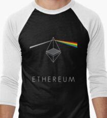 ethereum ETH prisma lichtbrechung floyd regenbogen licht nerd bitcoin blockchain cryptochain währung internet kursgewinn dezentral Men's Baseball ¾ T-Shirt