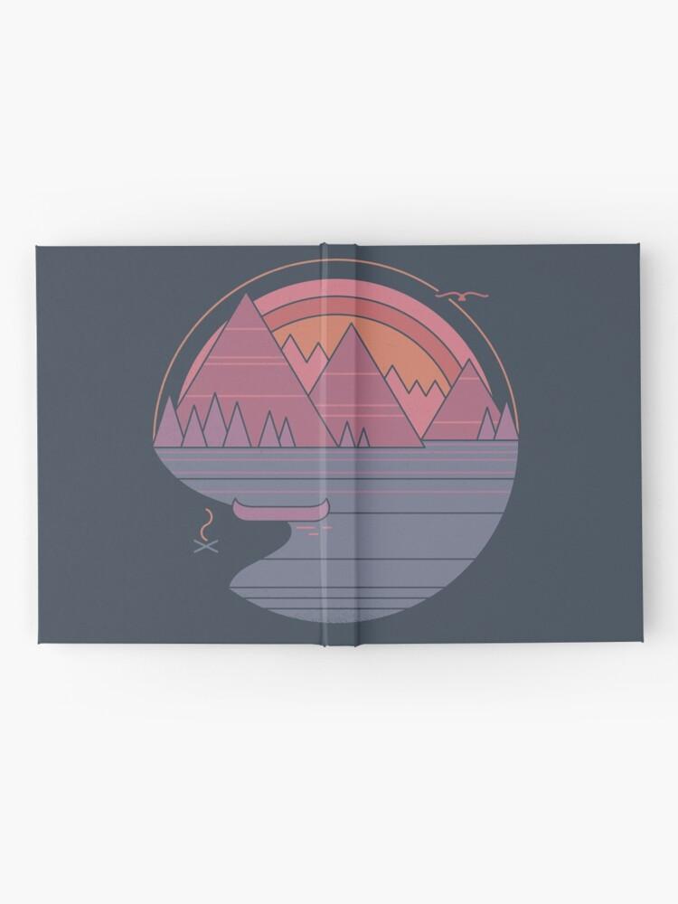 Alternative Ansicht von Die Berge rufen an Notizbuch
