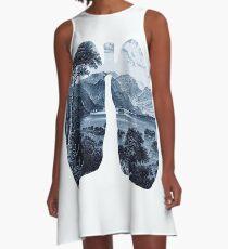 Frisch A-Linien Kleid