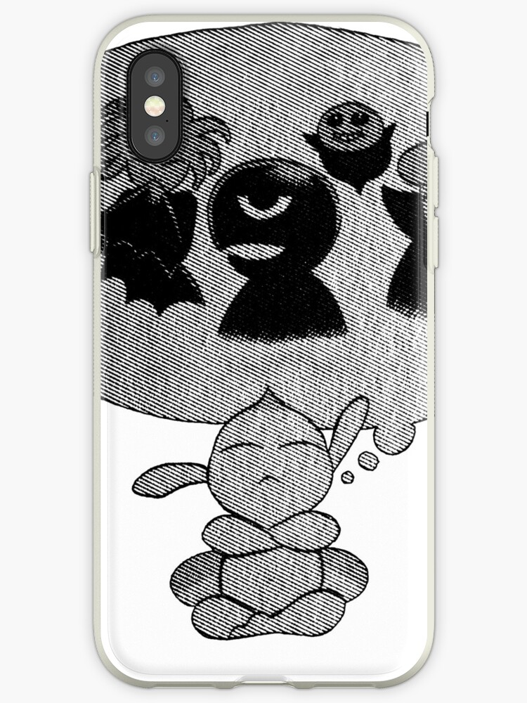 'Puck the Thinker' iPhone Case by potemskin
