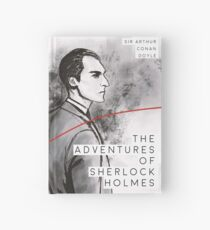 The Adventures of Sherlock Holmes Modern Book Cover Journal  Hardcover Journal