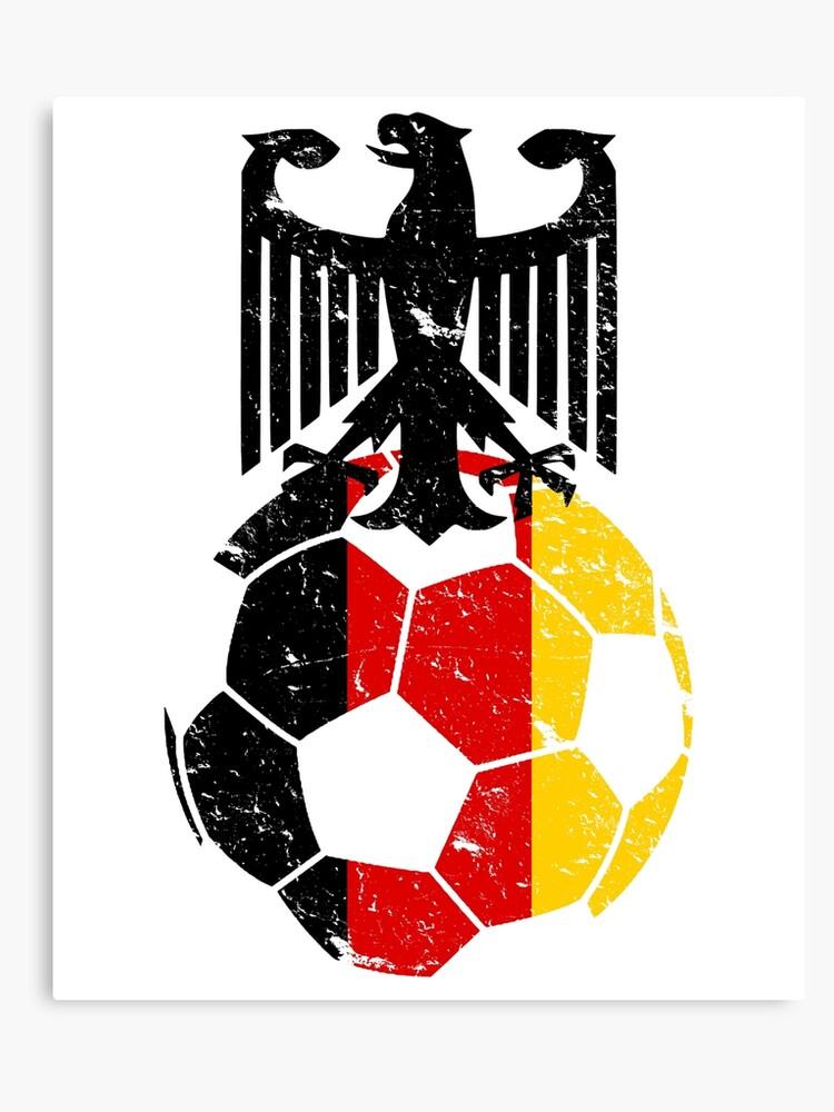 Germany Fussball Bund Football Soccer Sports Flag Design Canvas Print