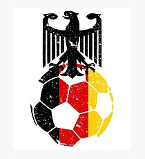 Germany Fussball-Bund Football Soccer Sports Flag Design Photographic Print