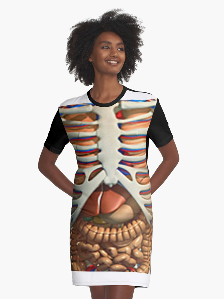 Lustiges T-Shirt mit den inneren Organen des menschlichen Körpers in ...