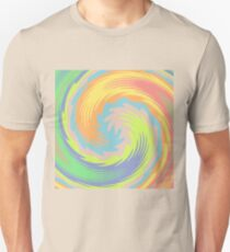 Abstract Twirl Wave Slim Fit T-Shirt
