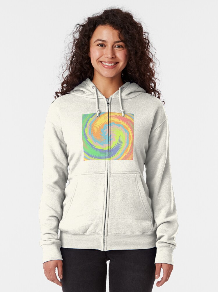 Alternate view of Abstract Twirl Wave Zipped Hoodie