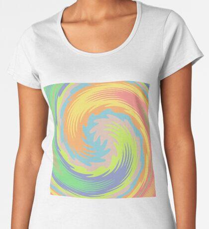 Abstract Twirl Wave Premium Scoop T-Shirt