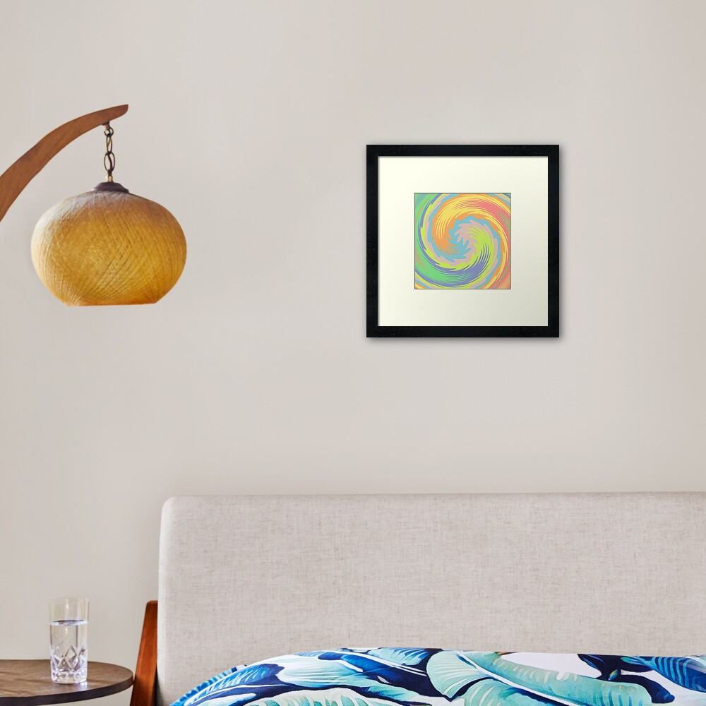 Abstract Twirl Wave Framed Art Print