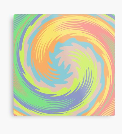 Abstract Twirl Wave Metal Print