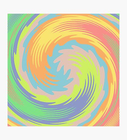 Abstract Twirl Wave Photographic Print