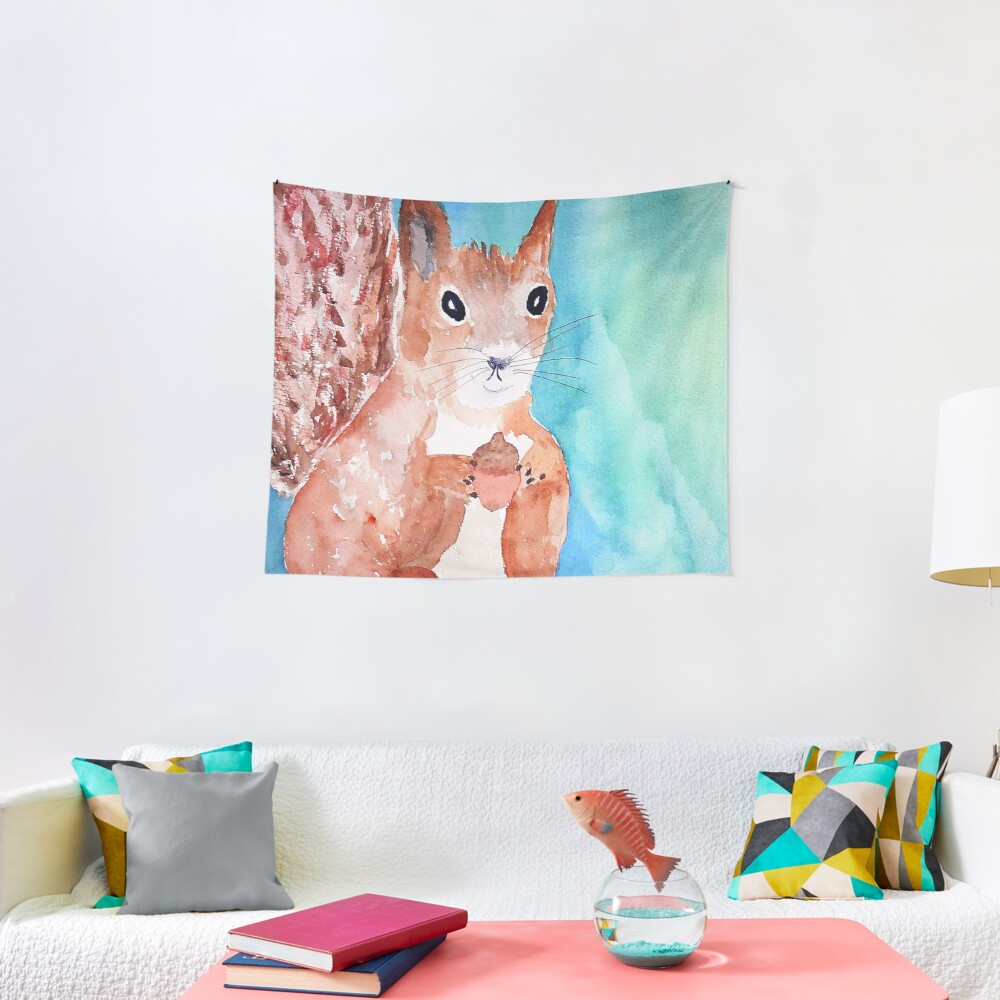 Red Squirrel Tapestry
